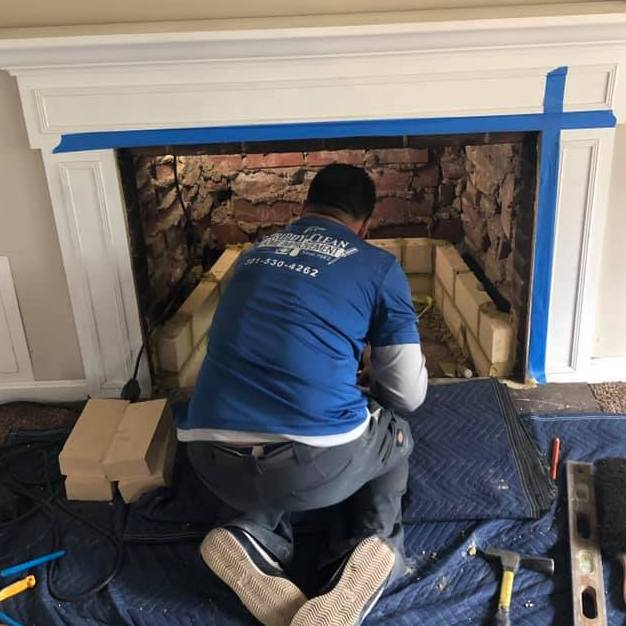 Repairing a residential fireplace